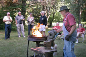 Learning in Retirement blacksmith event
