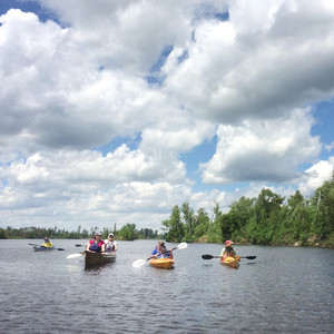 sea kayaking on the turtle flambeau flowage
