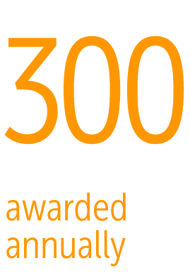 Infographic - more than 300 scholarships awarded annually