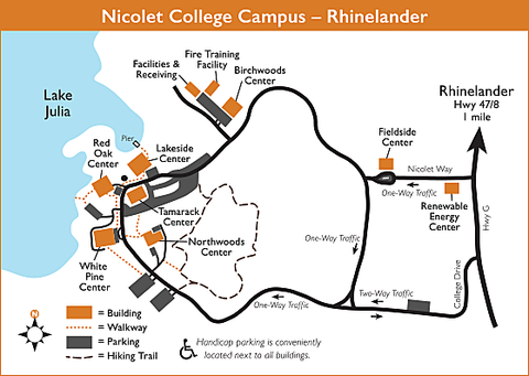 Nicolet College campus map