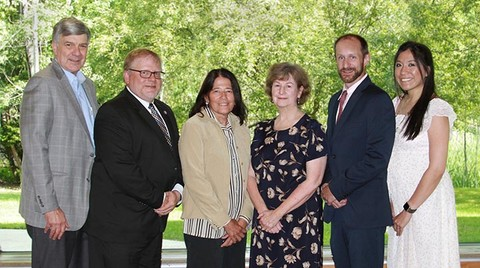 New Board of Trustees Members with President
